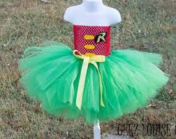 Baby Robin Halloween Costume Robin Tutu Costume Etsy