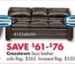 big lots leather sofa crosstown faux leather sofa or loveseat 61 76 off at big lots