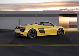 audi supercar convertible 2017 audi r8 spyder v10 revealed