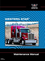 western star maintenance manual manual transmission