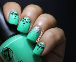 nail loopy w7 pistachio lace nails