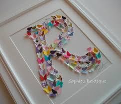 butterfly monogram canvas 11x14 nursery art sophieboutique on