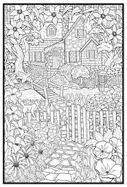 garden scene coloring pages coloring