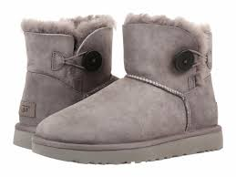 grey womens boots australia ugg australia mini bailey button ii grey womens boots 9 ebay