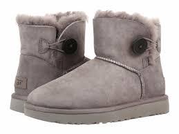 ugg womens shoes ebay ugg australia mini bailey button ii grey womens boots 9 ebay