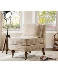 Oversized Accent Chair Amazing Deal On Iconic Home Gandhi Modern Beige Velvet Armless