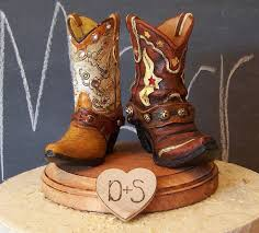 barn cake topper rustic cake topper his and western cowboy boots wedding cake