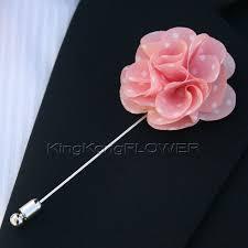 lapel flower handmade kingkong flower dot boutonniere lapel pin wedding party