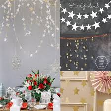 Decorative Garlands Home Aliexpress Com Buy 4m Gold Star Garlands Paper Birthday Party