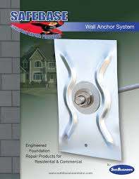 safebase wall anchors fixing bowed walls