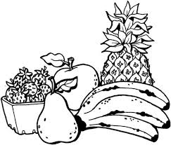 fruits pages color coloring pages kids
