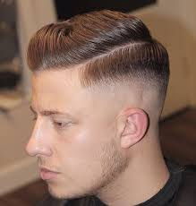 mans old fashion haircut parted down middle michealsbarbershop side part mens haircut 2017 mid fade combover