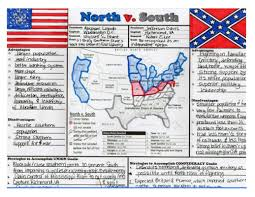 Pre Civil War Map Of United States by Civil War Graphic Organizer Educational Pinterest Graphic