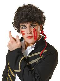 Prince Charming adam ant wig 80s new romantic prince charming pop star fancy dress