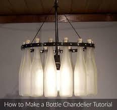 Making Chandeliers Best 25 Wine Bottle Chandelier Ideas On Pinterest Make A