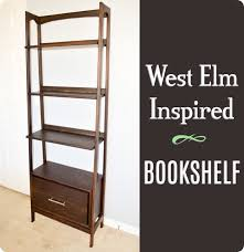 Furniture Plans Bookcase by Mid Century Bookshelf Building Plans