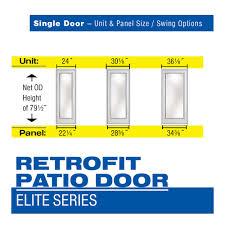 Single Patio Door Single Retrofit Patio Door Elite Series Retrofit Patio Doors