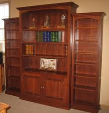 Solid Cherry Wood Bookcase Oak Specialists