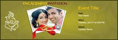 engagement ceremony invitation free engagement invitation with india s 1 online tool