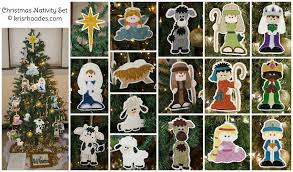 nativity set of 22 complete applique embroidery designs kris rhoades