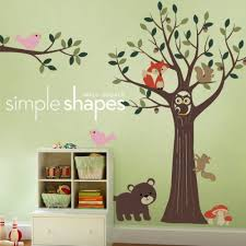 Tree Wall Decal For Nursery Tree With Forest Friends Decal Set Nursery Room Wall Decal