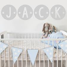 baby name wall stickers circle star name fabric wall stickers