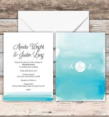 wedding invitations liverpool watercolour ombre wedding invitations with envelopes 5x7