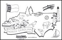 north carolina state coloring sheet hensonfuerst