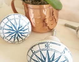 Nautical Kitchen Cabinet Hardware by Compass Knob Etsy
