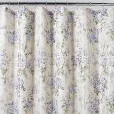 home solutions emily purple floral shower curtain shop your way