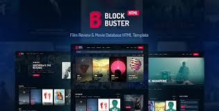 database template blockbuster review database html template by haintheme