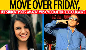 friday rebecca black move over rebecca black ucf student posts u0027amazin u0027 new music