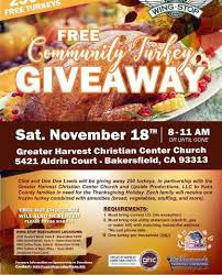 free community turkey giveaway saturday november 18 turnto23