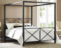 dhp furniture rosedale modern romance metal queen canopy bed