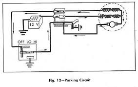 parking windshield wiper circuit diagram for the 1961 chevrolet