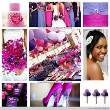 colour themes for nigerian wedding pink and fuschia wedding colors