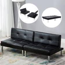 Leather Sofa Bed With Storage Homcom Pu Leather Folding Sofa Sleeper Bed W Storage Ottoman