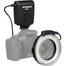 circle light for video polaroid macro led ring flash for nikon plmrfn b h photo video