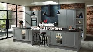 navy blue kitchen cabinets howdens chelford slate grey shaker style kitchen