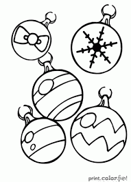 ornaments coloring page print color