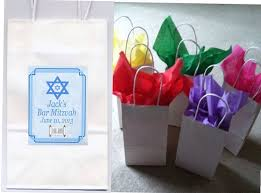 mitzvah favors bar mitzvah favor goody bags personalized set of 10 by