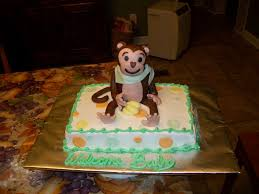 monkey baby shower cake boy monkey baby shower cakes noel homes the preparation