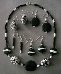 black necklace white images Vermont lampwork bead jewelry vermont african beaded jewelry jpg