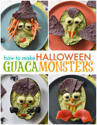 How To Make Halloween by Halloween Guacamonsters Fork And Beans