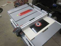 table saw router table bosch 4100 09 table saw collapsed with router insert extension