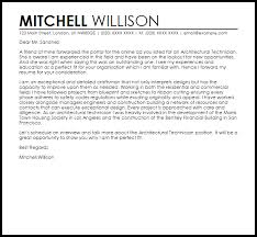 architectural technologist cover letter sample livecareer