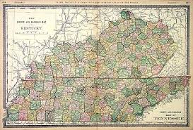 map ky and tn new county and railroad map of kentucky county and railroad map