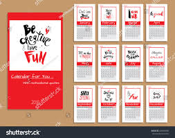 quote cards for planner calendar planner 2018 year vector design stock vector 640000996