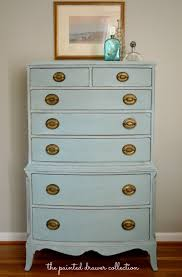 vintage dresser in annie sloan duck egg blue before and after