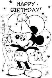 coloring pages for birthdays printables mickey mouse coloring pages free free printable happy birthday